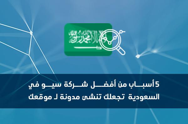 5 أسباب من أفضل شركة سيو في السعودية تجعلك تنشئ مدونة لــ موقعك